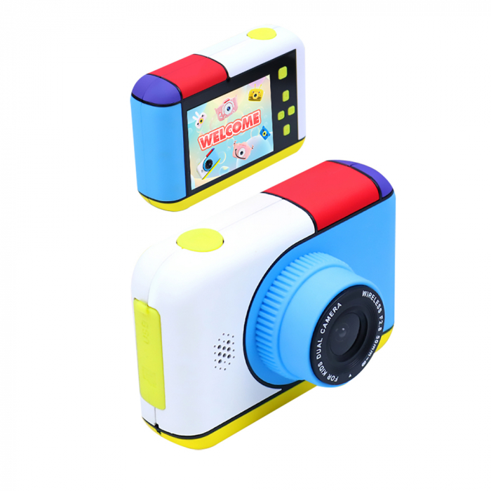 Camera foto/video pentru copii, Display 2 inch, Design Minnie Mouse, Rezolutie 1080P, Jocuri, MP3, Camera Duala, Smartic®, roz [7]