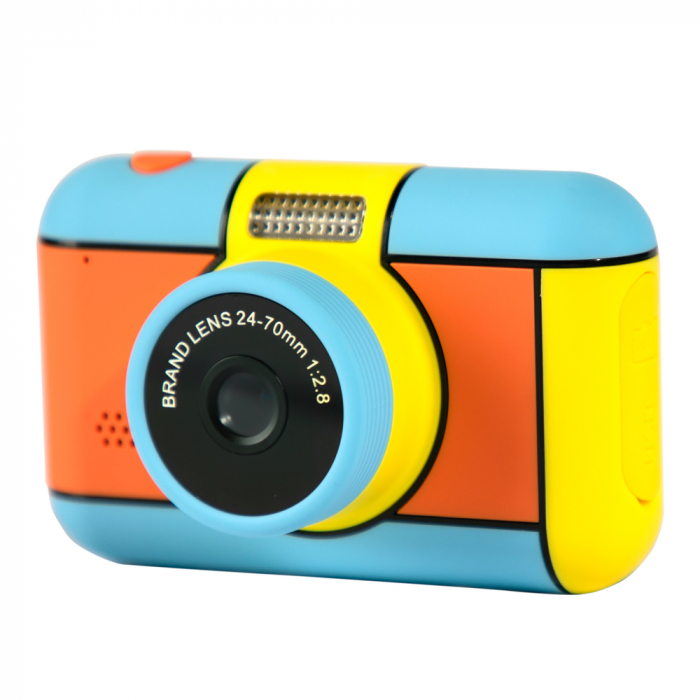 Camera mini digitala pentru copii cu lentila dubla de 24 MP, Display 2.4 inch, Functie Selfie,  Rezolutie 1920x1080 , Inregistrare Video, Foto Smartic®, multicolor 1