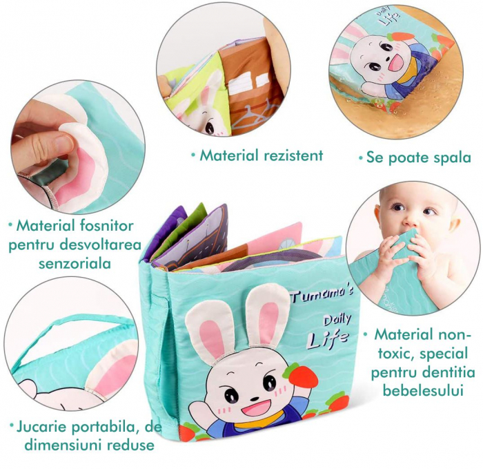Carticica fosnitoare senzoriala Daily Life Tumama®, pentru dentitia copiilor si a bebelusilor 3