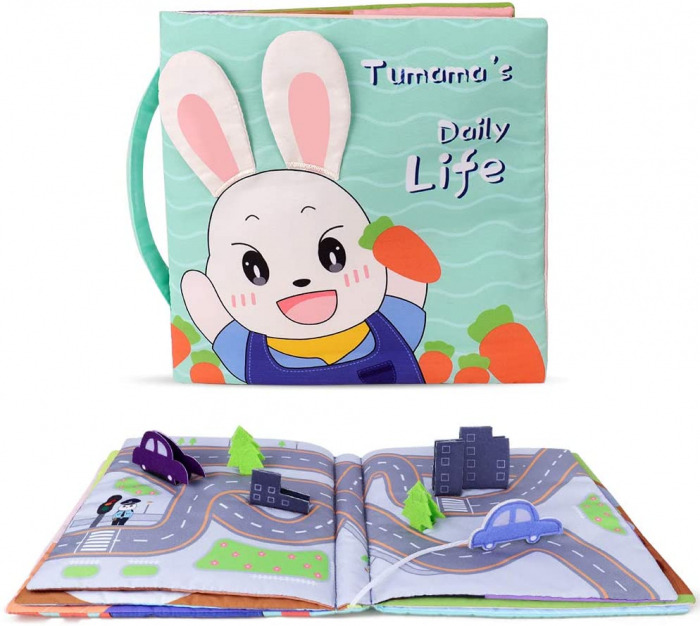 Carticica fosnitoare senzoriala Daily Life Tumama®, pentru dentitia copiilor si a bebelusilor [1]