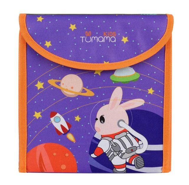 Carticica portabila cu 8 tablite Tumama®, pentru colorant si carioci, Cosmos, mov 0