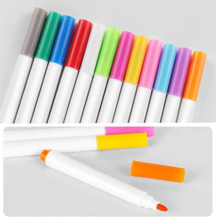 Carticica portabila cu 8 tablite Tumama®, pentru colorant si carioci, Jungla, negru 6