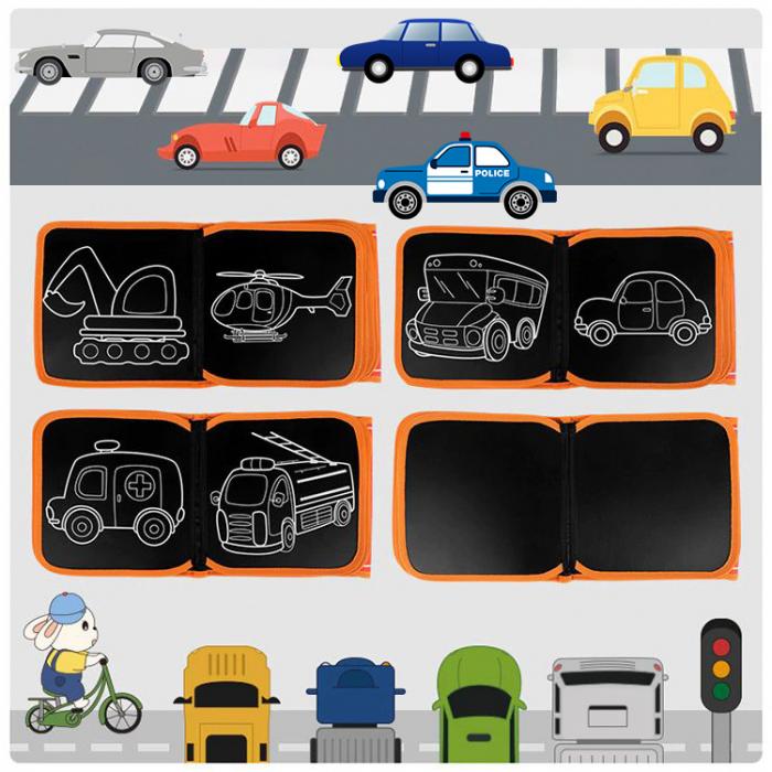 Carticica portabila cu 8 tablite Tumama®, pentru colorant si carioci, Transport, rosu 2