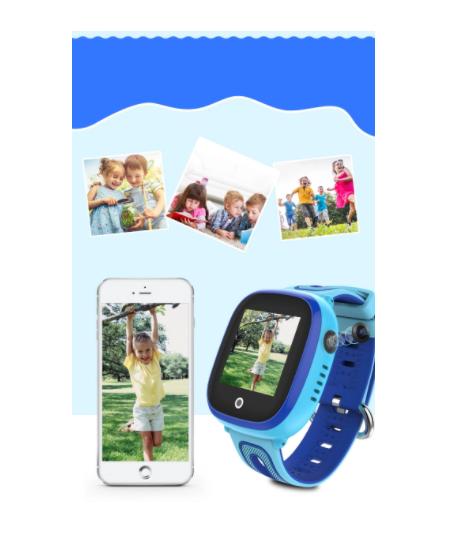 Ceas Smartwatch cu GPS pentru copii, Aplicatie Telefon, Impermeabil, Functie SOS, WiFi, SMARTIC®, Albastru 3