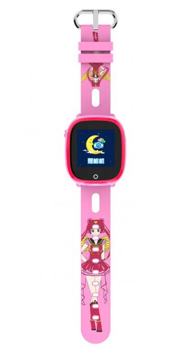 Ceas Smartwatch cu GPS pentru copii, Aplicatie Telefon, Impermeabil, Functie SOS, WiFi, SMARTIC®, Roz 1