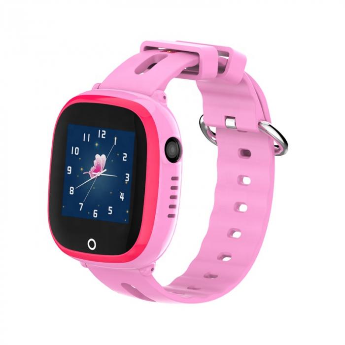 Ceas Smartwatch cu GPS pentru copii, Aplicatie Telefon, Impermeabil, Functie SOS, WiFi, SMARTIC®, Roz 0