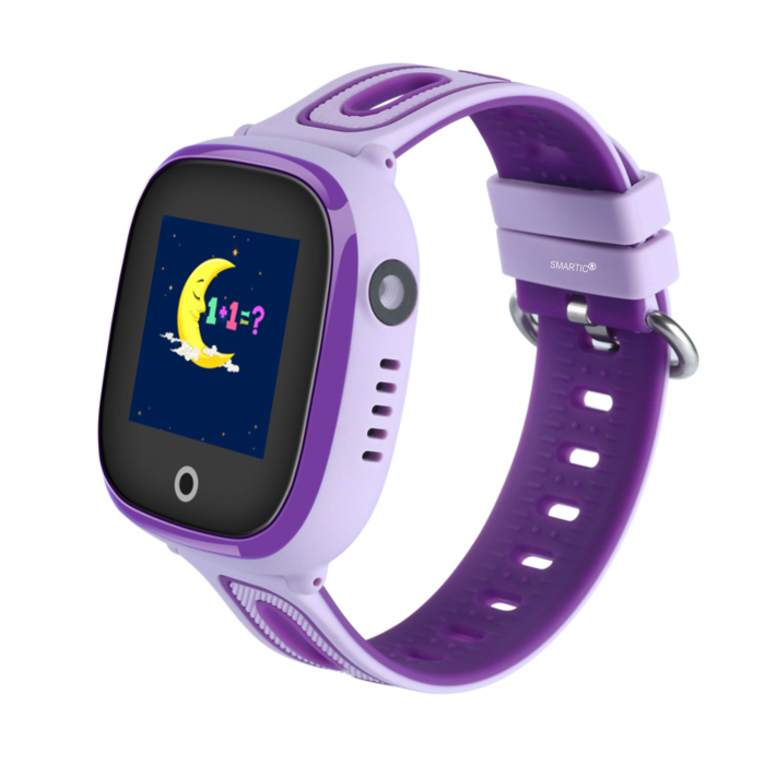 Ceas Smartwatch cu GPS pentru copii, Aplicatie Telefon, Rezistent la Apa IP67, Display 1.22 inch, Functie SOS, Wi-Fi, SMARTIC®, Mov [0]