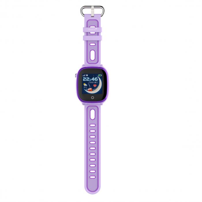 Ceas Smartwatch cu GPS pentru copii, Aplicatie Telefon, Rezistent la Apa IP67, Display 1.22 inch, Functie SOS, Wi-Fi, SMARTIC®, Mov [2]