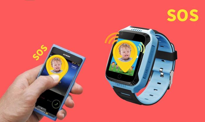 Ceas Smartwatch cu GPS pentru Copii, Smartic, Albastru, Dreptunghiular, functie apeluri, localizare GPS, camera foto, zona de siguranta, buton SOS 4