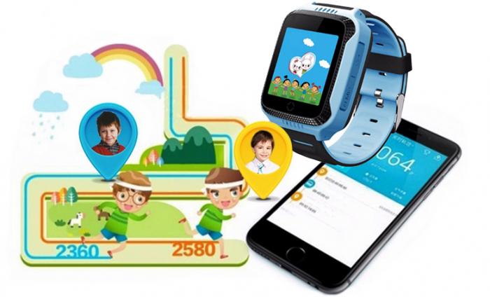 Ceas Smartwatch cu GPS pentru Copii, Smartic, Albastru, Dreptunghiular, functie apeluri, localizare GPS, camera foto, zona de siguranta, buton SOS 3