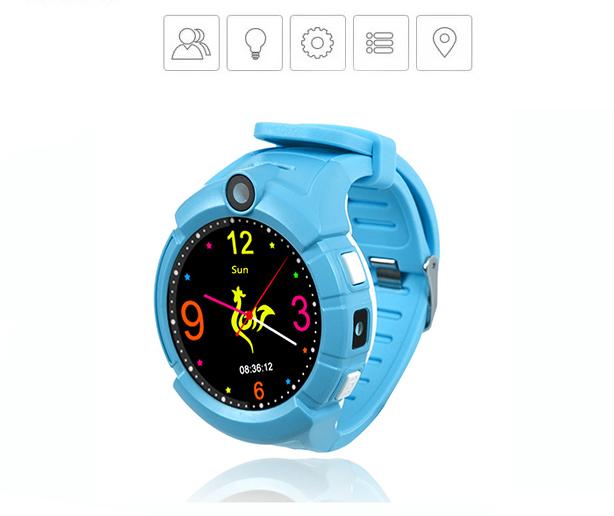 Ceas Smartwatch cu GPS pentru Copii, Smartic, Albastru, Rotund, functie apeluri, localizare GPS, camera foto, zona de siguranta, buton SOS 3