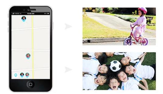 Ceas Smartwatch cu GPS pentru Copii, Smartic, Albastru, Rotund, functie apeluri, localizare GPS, camera foto, zona de siguranta, buton SOS 4