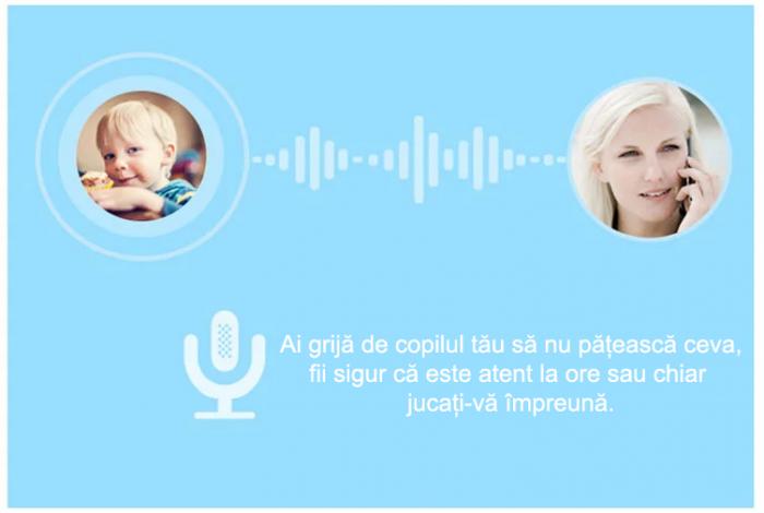 Ceas Smartwatch cu GPS pentru Copii, Smartic, Albastru, Rotund, functie apeluri, localizare GPS, camera foto, zona de siguranta, buton SOS 5