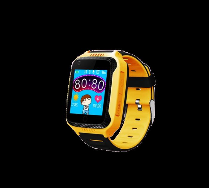 Ceas Smartwatch cu GPS pentru Copii, Smartic, Galben, Dreptunghiular, functie apeluri, localizare GPS, camera foto, zona de siguranta, buton SOS 0