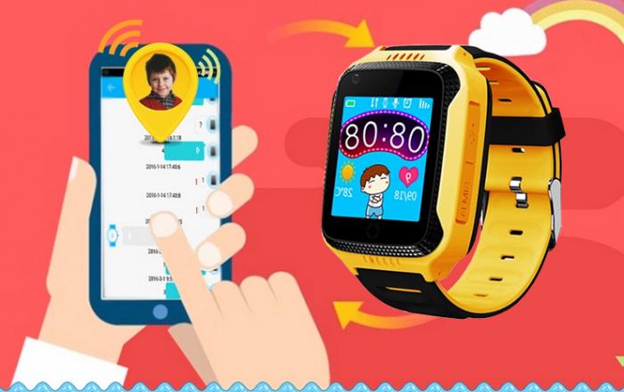 Ceas Smartwatch cu GPS pentru Copii, Smartic, Galben, Dreptunghiular, functie apeluri, localizare GPS, camera foto, zona de siguranta, buton SOS 1