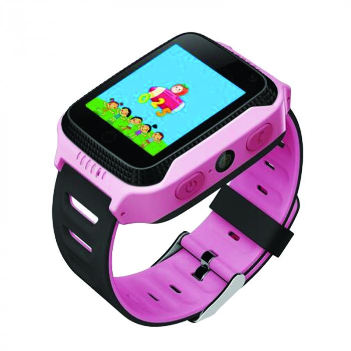 Ceas Smartwatch cu GPS pentru Copii, Smartic, Roz, Dreptunghiular, functie apeluri, localizare GPS, camera foto, zona de siguranta, buton SOS [0]