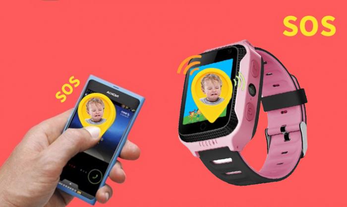 Ceas Smartwatch cu GPS pentru Copii, Smartic, Roz, Dreptunghiular, functie apeluri, localizare GPS, camera foto, zona de siguranta, buton SOS [4]