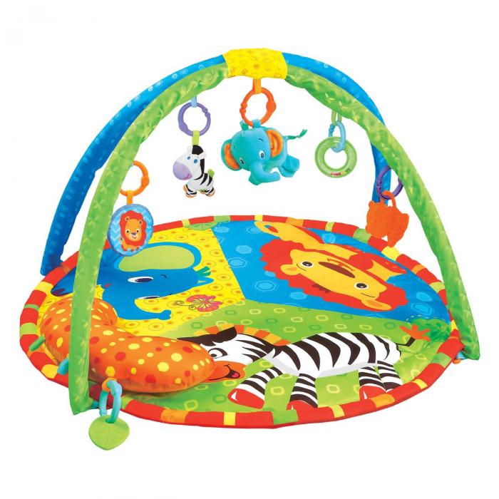 Centru activitati paturica cu perna si accesorii, pentru bebelusi, SMARTIC®,  multicolor [0]