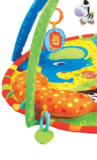 Centru activitati paturica cu perna si accesorii, pentru bebelusi, SMARTIC®,  multicolor [2]