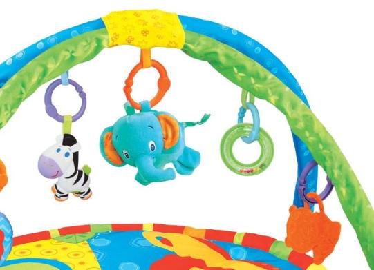 Centru activitati paturica cu perna si accesorii, pentru bebelusi, SMARTIC®,  multicolor [1]