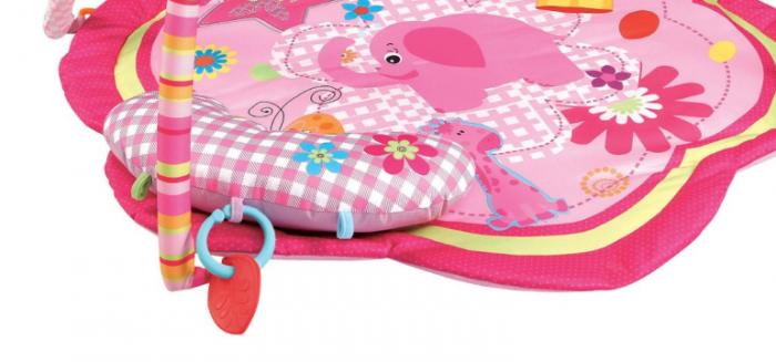 Centru activitati paturica cu perna si accesorii, pentru bebelusi, SMARTIC®, roz [2]