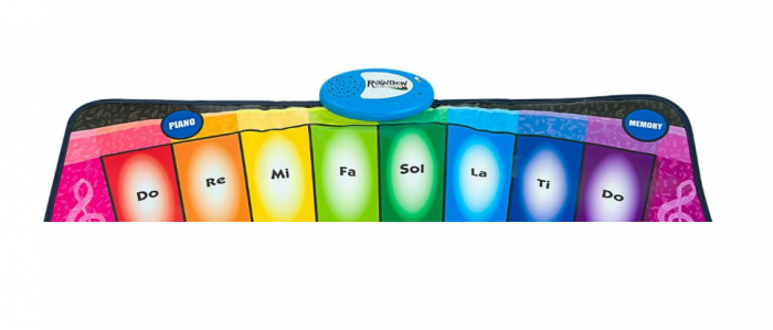 Covor muzical pian cu 8 taste, 2 programe si 8 melodii programate, 80x35 cm, SMARTIC®, multicolor 2