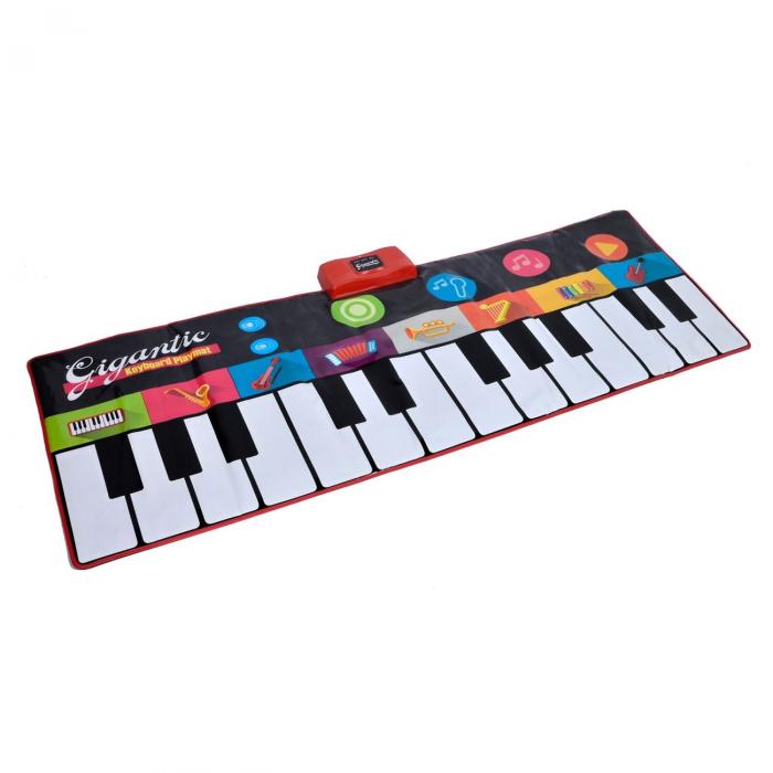 Covor muzical pian cu sunete, 24 taste, volum reglabil, 4 moduri, 181x74 cm, Smartic®, multicolor [0]