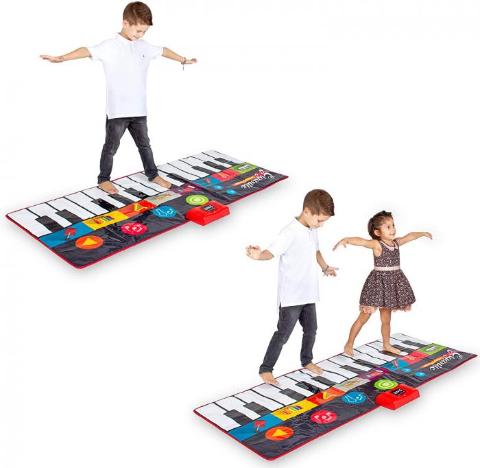 Covor muzical pian cu sunete, 24 taste, volum reglabil, 4 moduri, 181x74 cm, Smartic®, multicolor [8]