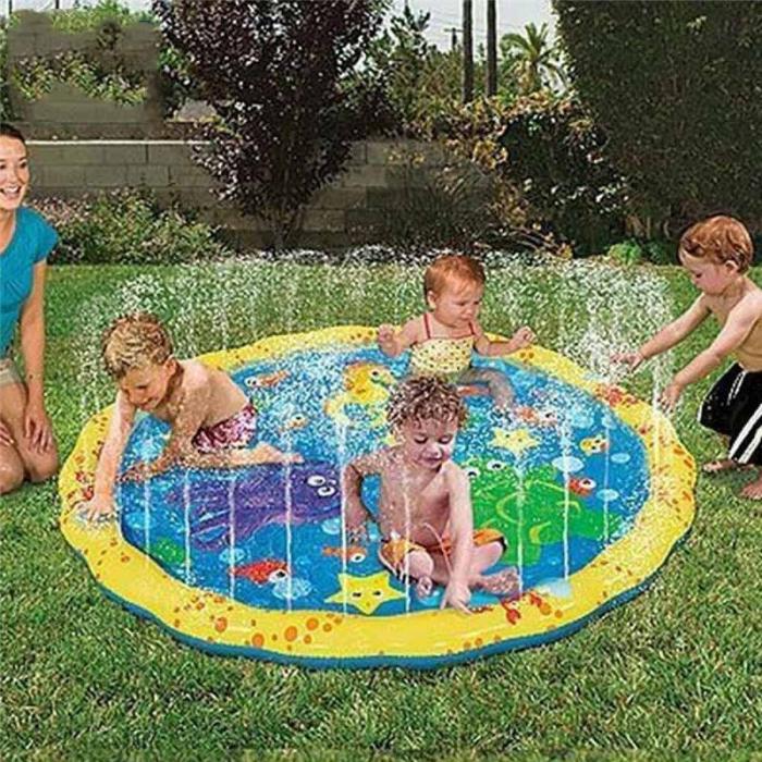 Covoras de joaca pentru copii,  Gonflabil, cu Stropi de Apa, Material PVC, SMARTIC®, 170 cm, multicolor 3