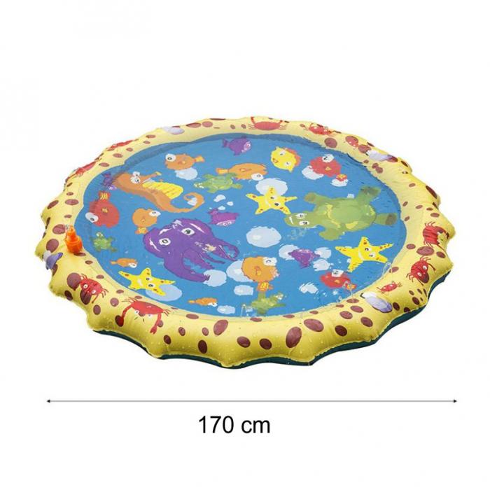 Covoras de joaca pentru copii,  Gonflabil, cu Stropi de Apa, Material PVC, SMARTIC®, 170 cm, multicolor 1