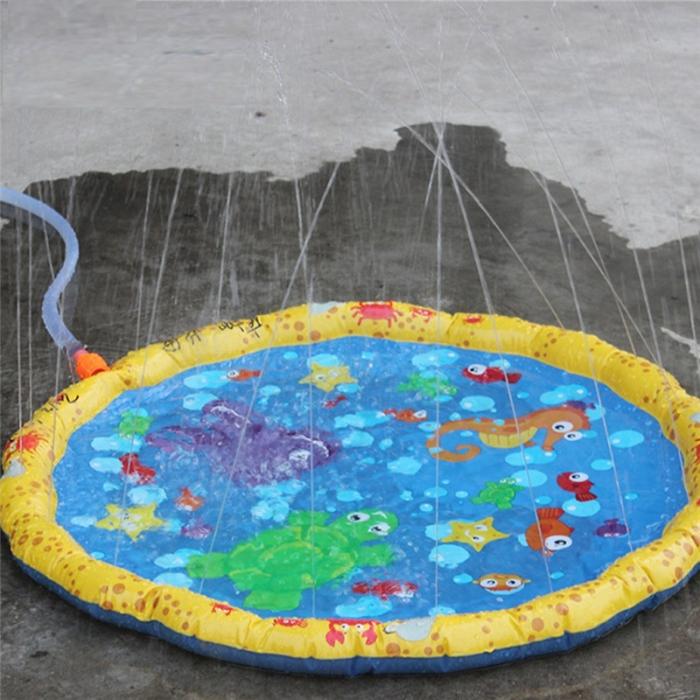 Covoras de joaca pentru copii,  Gonflabil, cu Stropi de Apa, Material PVC, SMARTIC®, 170 cm, multicolor 6