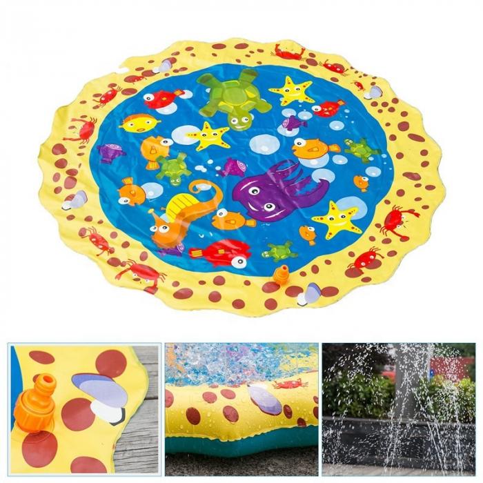 Covoras de joaca pentru copii,  Gonflabil, cu Stropi de Apa, Material PVC, SMARTIC®, 170 cm, multicolor 4