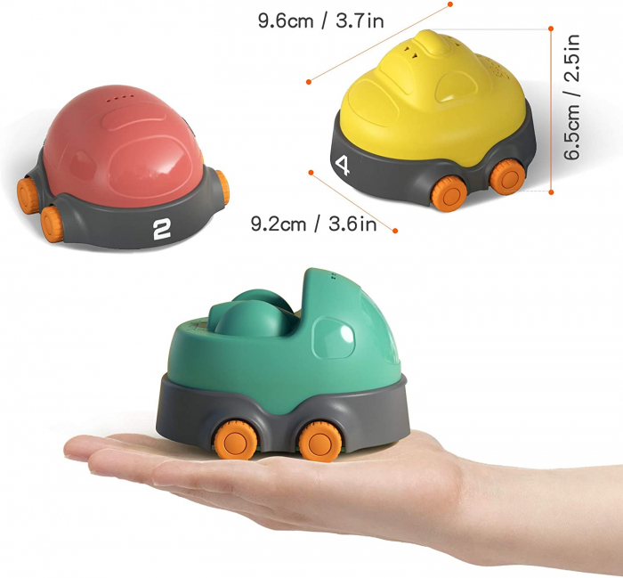 Covoras interactiv si educativ cu masinute, 68x68 cm, material plastic ABS, Tumama®, multicolor [7]