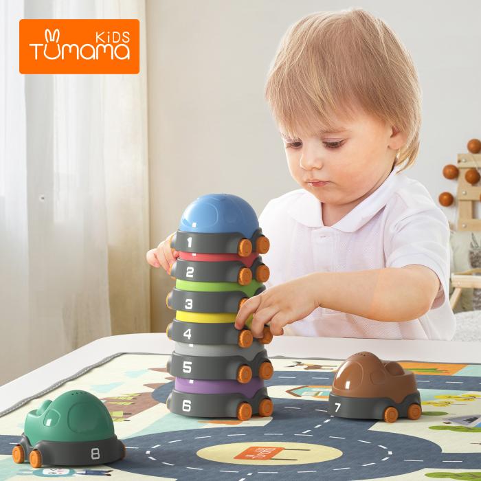 Covoras interactiv si educativ cu masinute, 68x68 cm, material plastic ABS, Tumama®, multicolor [2]