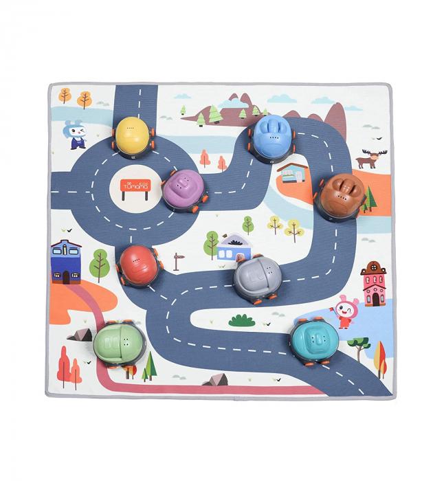 Covoras interactiv si educativ cu masinute, 68x68 cm, material plastic ABS, Tumama®, multicolor [0]