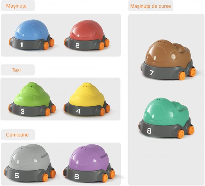 Covoras interactiv si educativ cu masinute, 68x68 cm, material plastic ABS, Tumama®, multicolor [6]