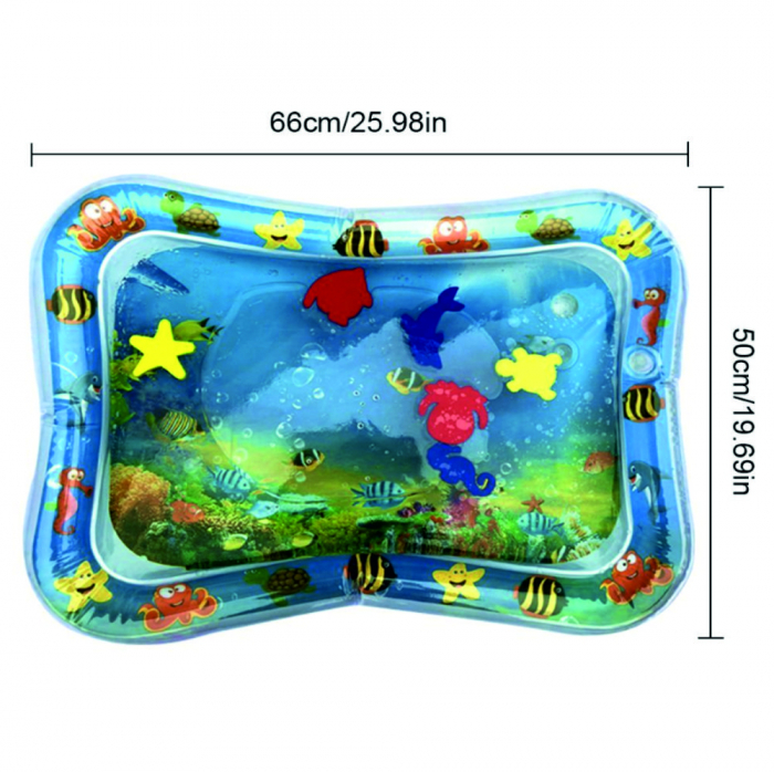 Covoras interactiv SMARTIC KID, jucarie interactiva cu apa, + 3 luni, 66x50cm, Animale Marine 1