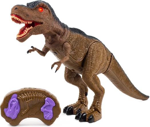 Dinozaur interactiv T-Rex de la SMARTIC®, cu lumini, sunete si miscari reale [1]