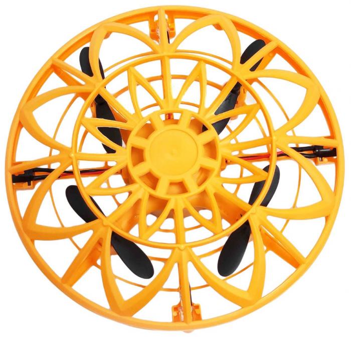 Drona disc jucarie, farfurie zburatoare, cu infrarosu si senzor, SMARTIC®, portocaliu 1