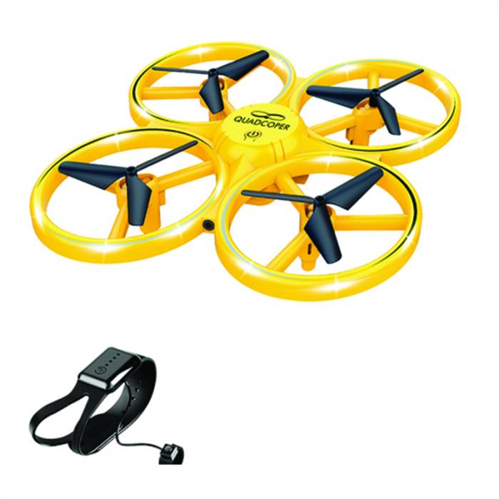Drona Elicopter Inductie, Control prin gesturi, Rotire 360 grade, Leduri incorporate 1