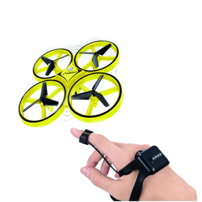 Drona Elicopter Inductie, Control prin gesturi, Rotire 360 grade, Leduri incorporate 2