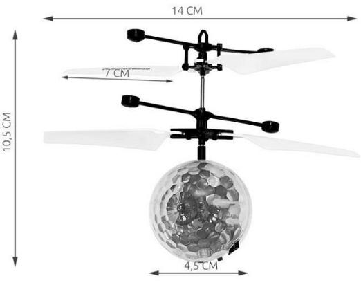 Elicopter mini de jucarie, model minge, controlabil cu mana,  SMARTIC® [1]
