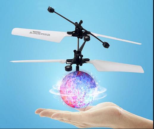 Elicopter mini de jucarie, model minge, controlabil cu mana,  SMARTIC® 2