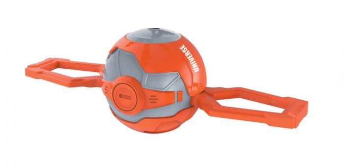 Elicopter mini de jucarie, model minge, controlabil cu mana, SMARTIC®, portocaliu [3]