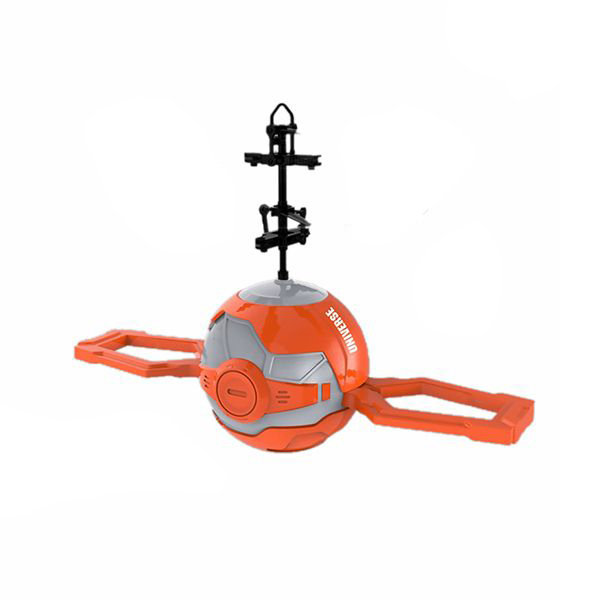 Elicopter mini de jucarie, model minge, controlabil cu mana, SMARTIC®, portocaliu [0]