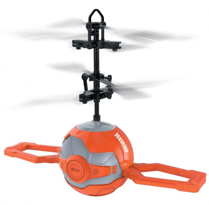 Elicopter mini de jucarie, model minge, controlabil cu mana, SMARTIC®, portocaliu [1]
