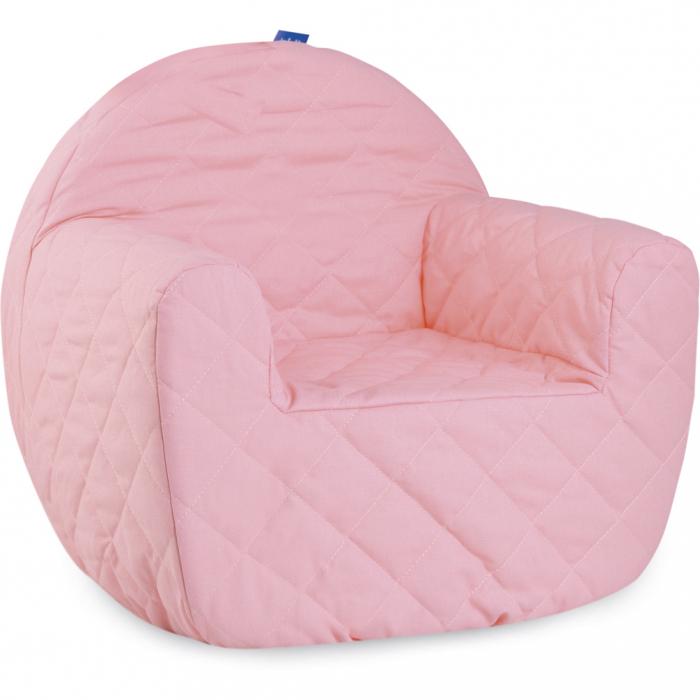 Fotoliu din burete, cu husa detasabila, pentru copii, roz 0