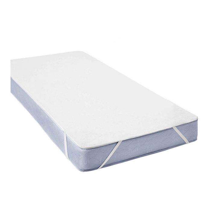 Husa Protectie Impermeabila pentru Saltea, Material Bumbac+Poliester, cu elastic, 120x60 cm, Smartic®, alb [0]