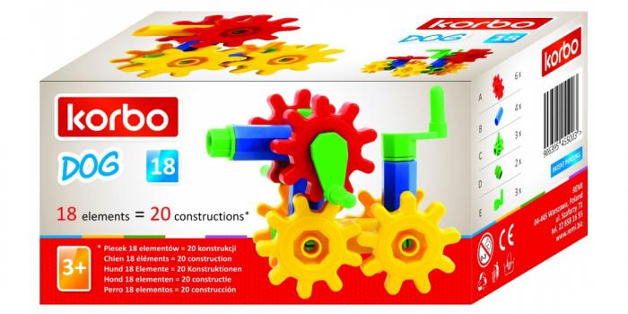 Joc educativ Korbo Dog18 Gandeste, Construieste, Roteste, de construit pentru copii 2