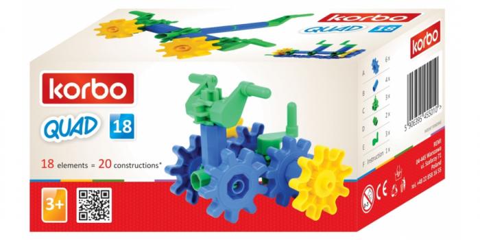 Joc educativ Korbo Quad18 Gandeste, Construieste, Roteste, de construit pentru copii 3